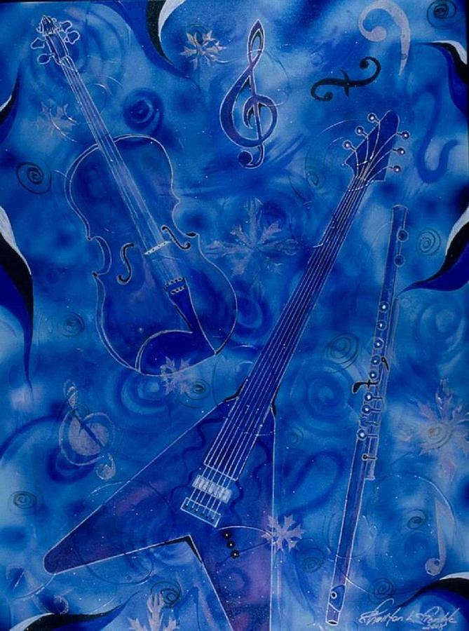 Music Painting - Jazzy And Icy by Shellton Tremble