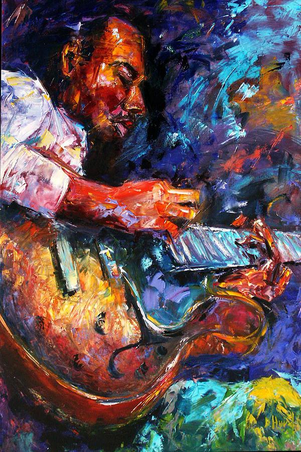 Guitar Painting - Jazzy Guitar by Debra Hurd