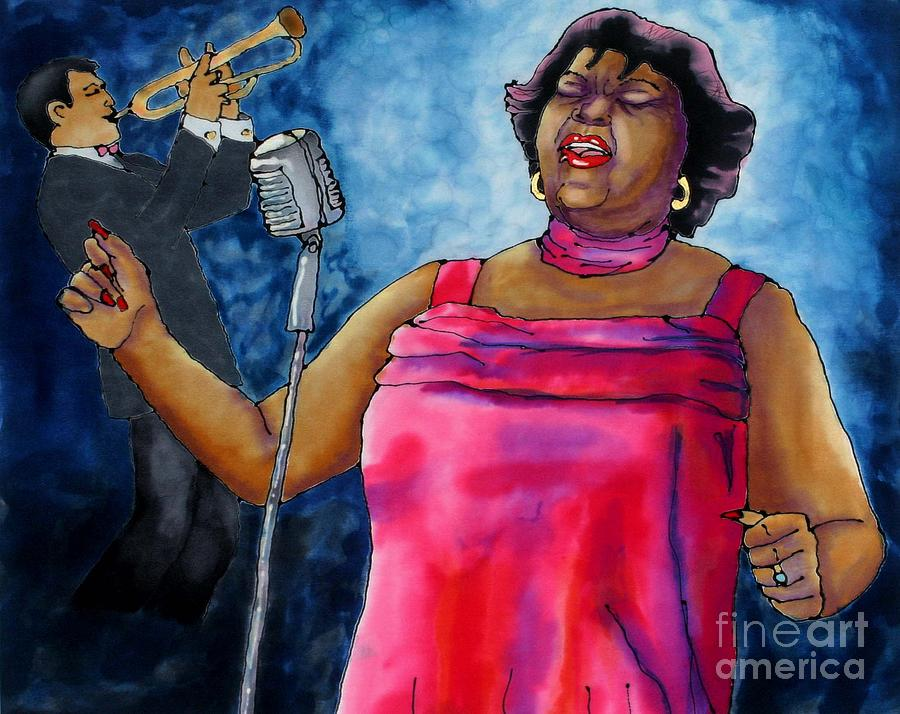 Jazz Painting - Jazzy Lady by Linda Marcille