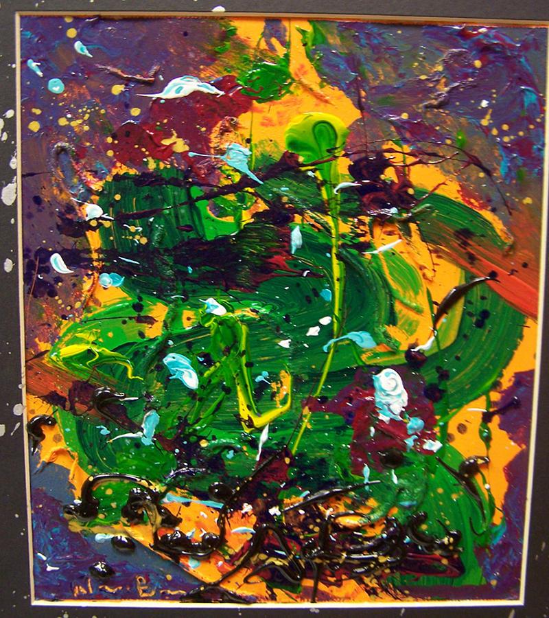 Acrylic Painting - Jazzy  by Nino  B