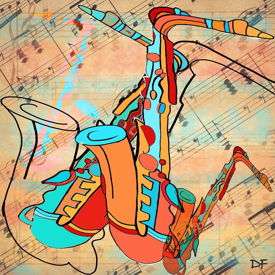 Jazzy Sax by Dora Ficher