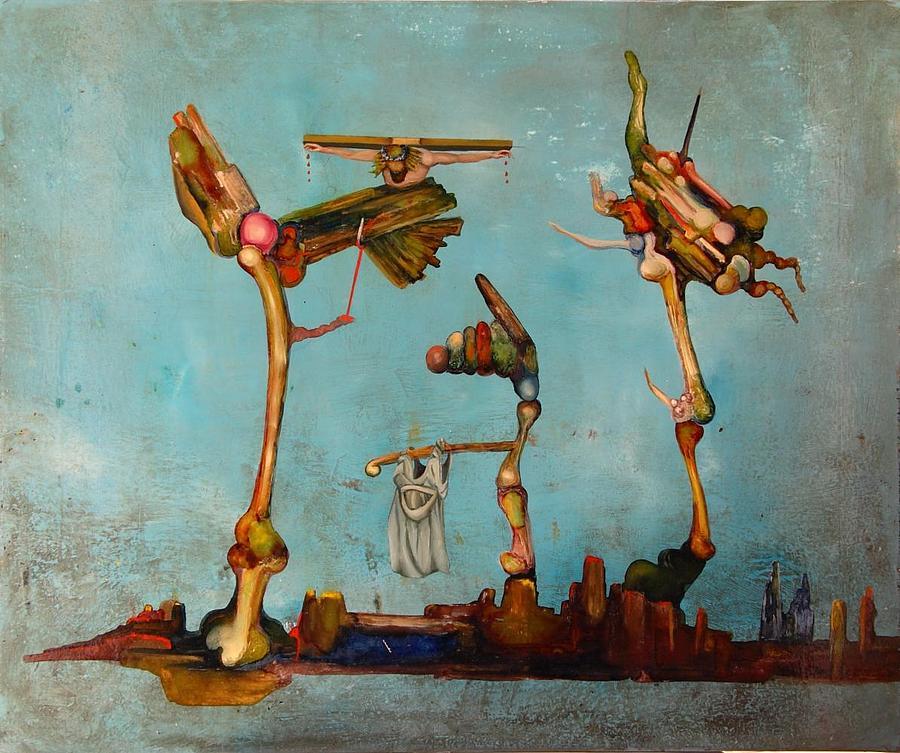 Surreal Painting - JC by Francesc Moresmont
