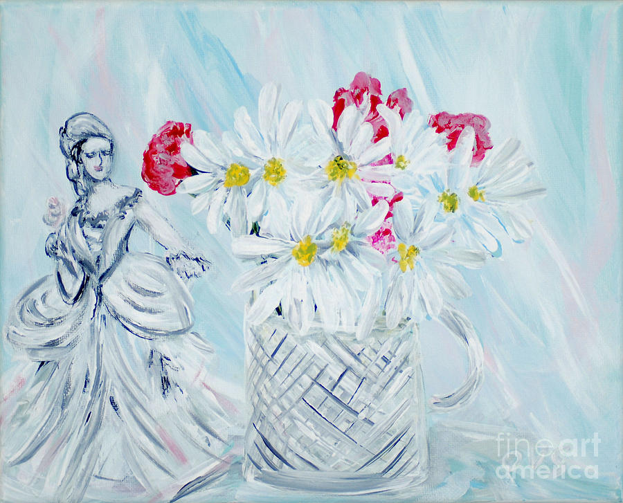 Je Vous Remerci. Thank You Collection Painting by Oksana Semenchenko