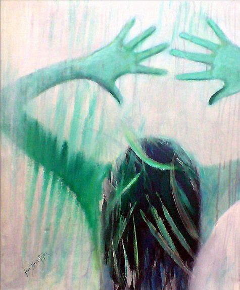 People Painting - Jealousy by Jose Maria Gijon