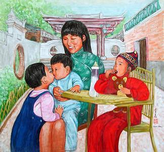 Kids Painting - Jealousy by Komi Chen