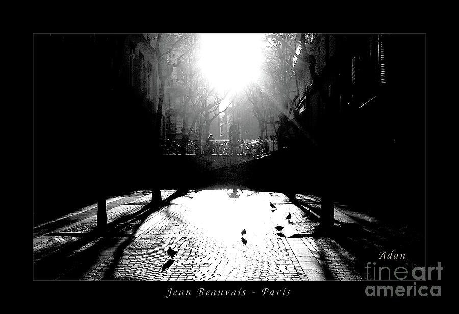 B&w Photograph - Jean Beauvais Paris by Felipe Adan Lerma