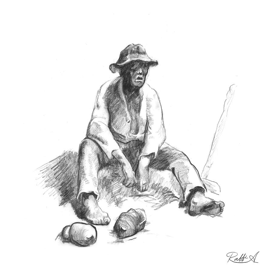 jeanfrancois millet drawing by raffi antounian