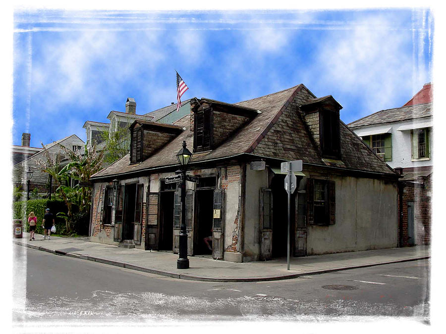 New Orleans Photograph - Jean Lafitte The Blacksmith by Linda Kish
