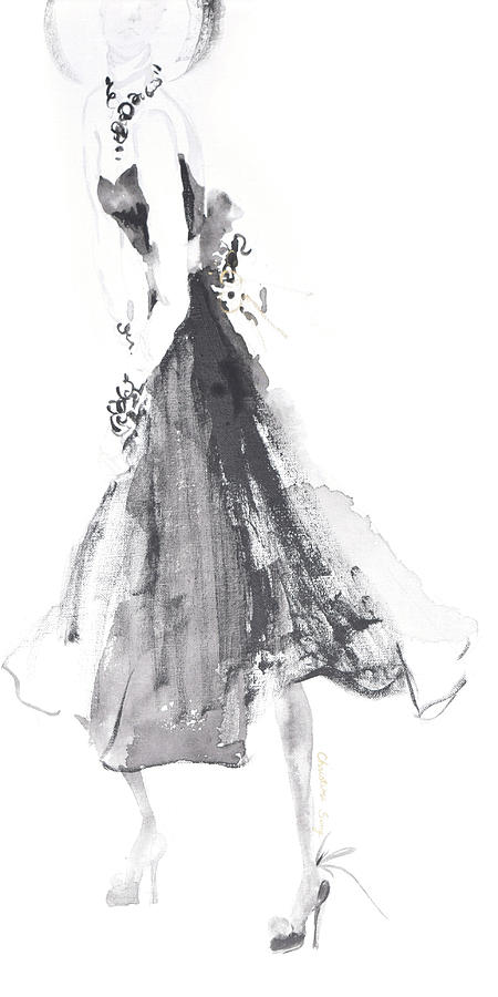 Fashion Illustration Painting - Jean No.1 by Christine Song