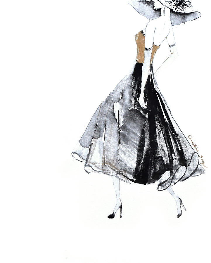 Fashion Illustration Painting - Jean No.2 by Christine Song