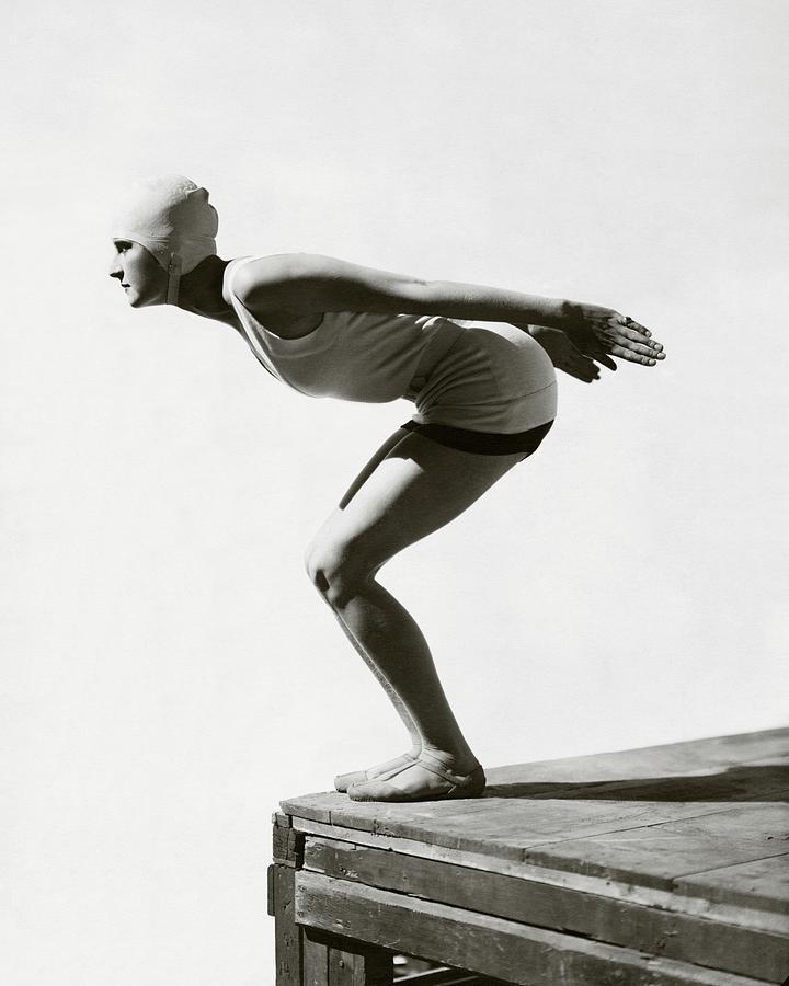 Jean Patou Swimwear Photograph by George Hoyningen-Huene