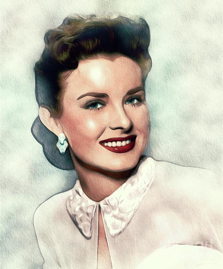 Jean Peters, Actress Painting