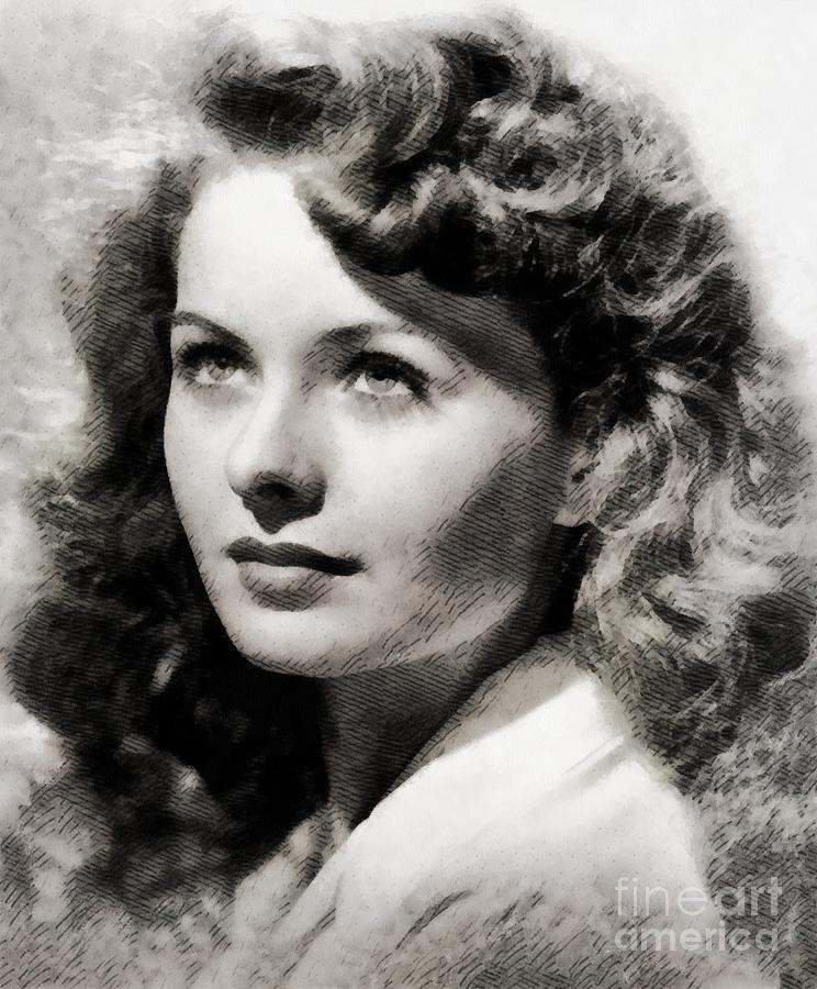 Jeanne Crain, Vintage Actress Painting