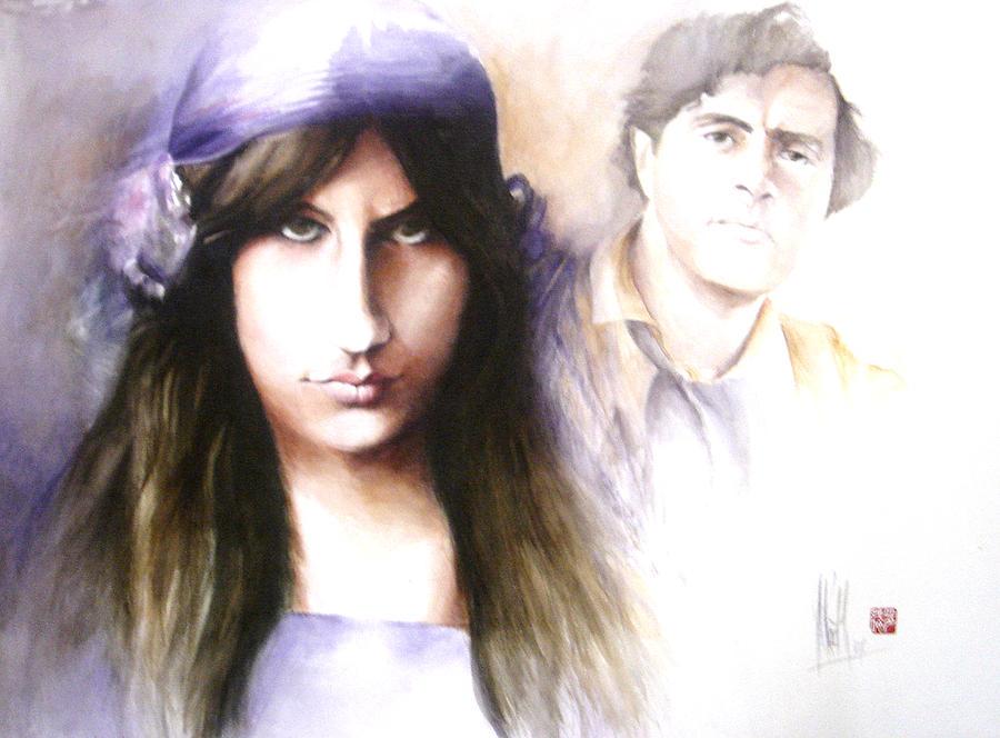 Jeanne Modigliani: Jeanne Hebuterne And Amedeo Modigliani Painting By Alan