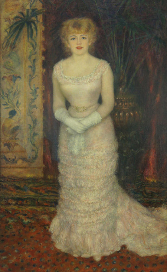 Jeanne Samary Painting - Jeanne Samary by Pierre Auguste Renoir