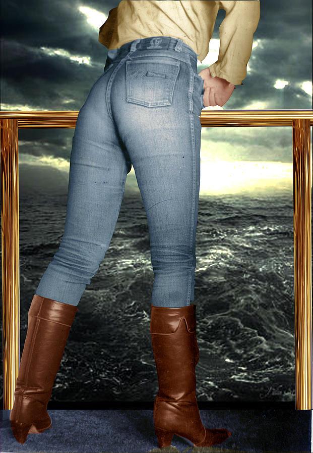 фото джинсы с сапогами содержит