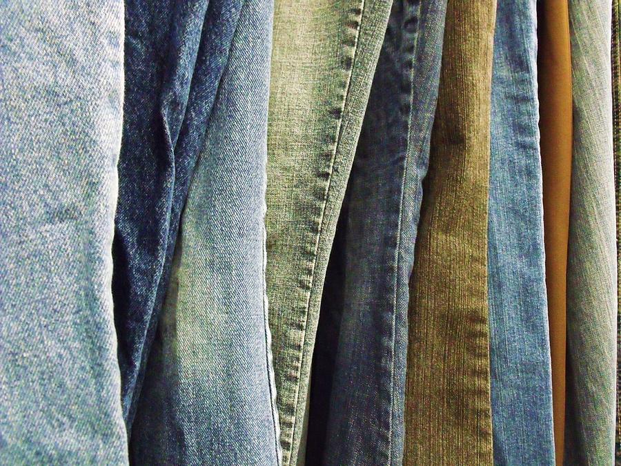 Denim Photograph - Jeans by Anna Villarreal Garbis
