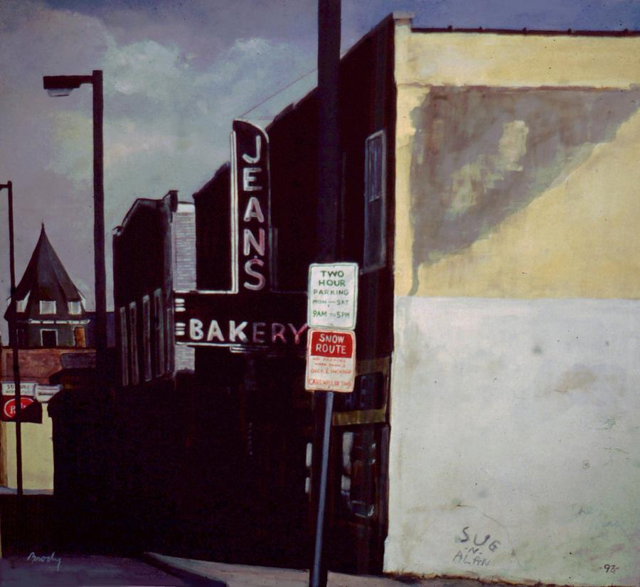 Landscape Painting - Jeans Bakery by William  Brody