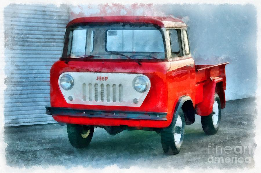 Jeep Painting - Jeep 1959 Fc150 Forward Control Pickup by Edward Fielding