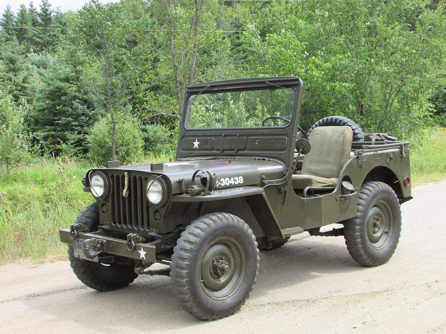 Army Photograph - Jeep At Hydes Creek by Juli Kreutner