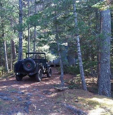 Woods Photograph - Jeep At Tin Camp by Juli Kreutner
