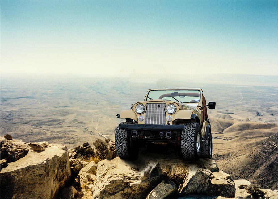 Jeep Photograph - Jeep On a Mountain by Brian Kinney