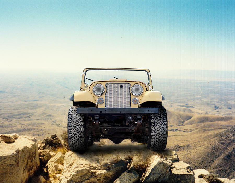Jeep Photograph - Jeep On Mountain by Brian Kinney