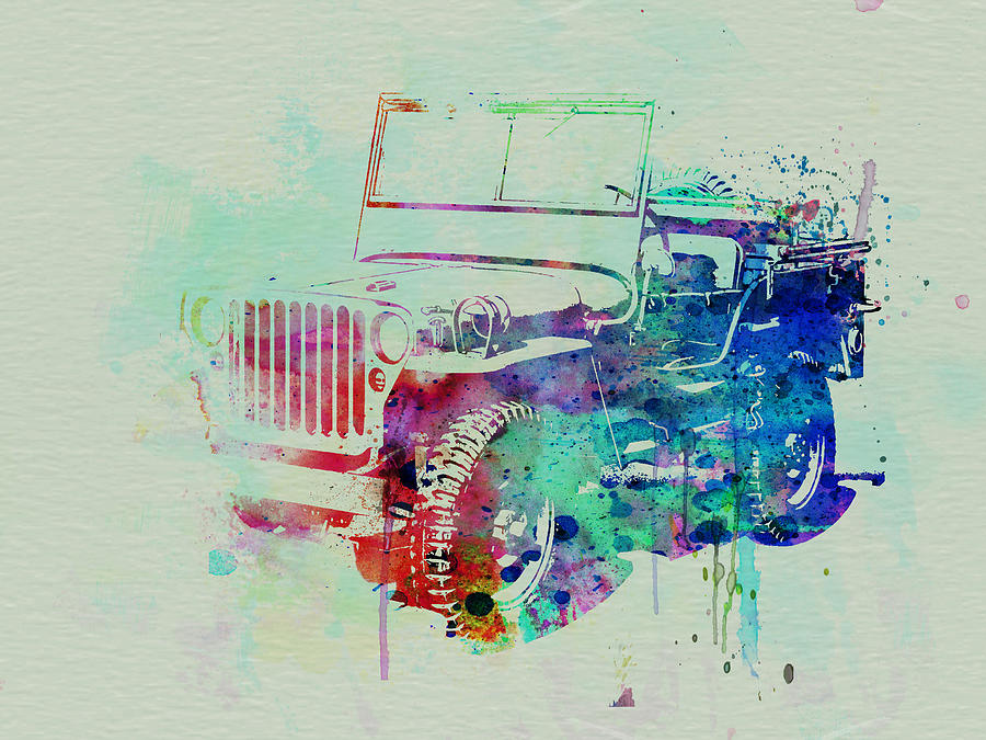 Willis Painting - Jeep Willis by Naxart Studio