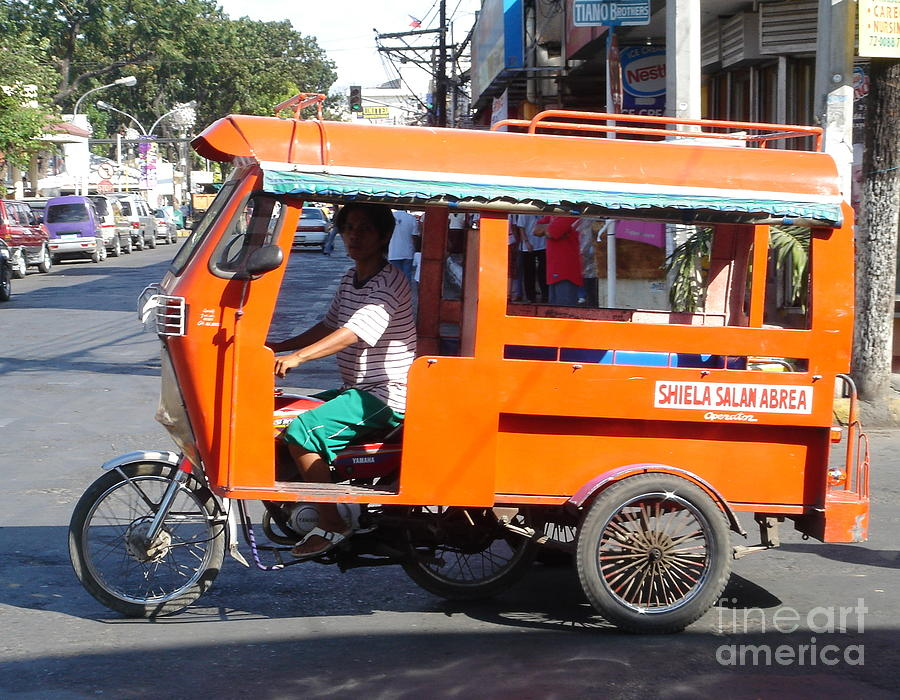 Jeepney Photograph - Jeepney 01 by Mike Holloway