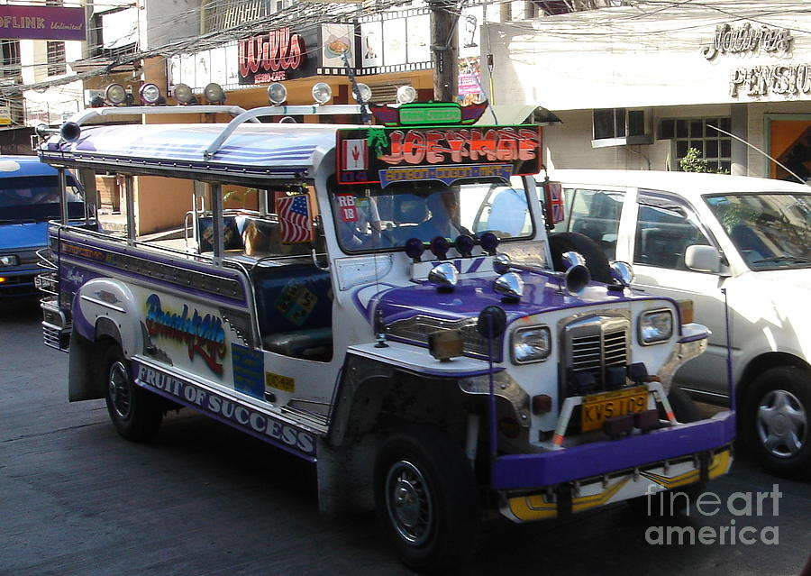 Jeepney Photograph - Jeepney 06 by Mike Holloway
