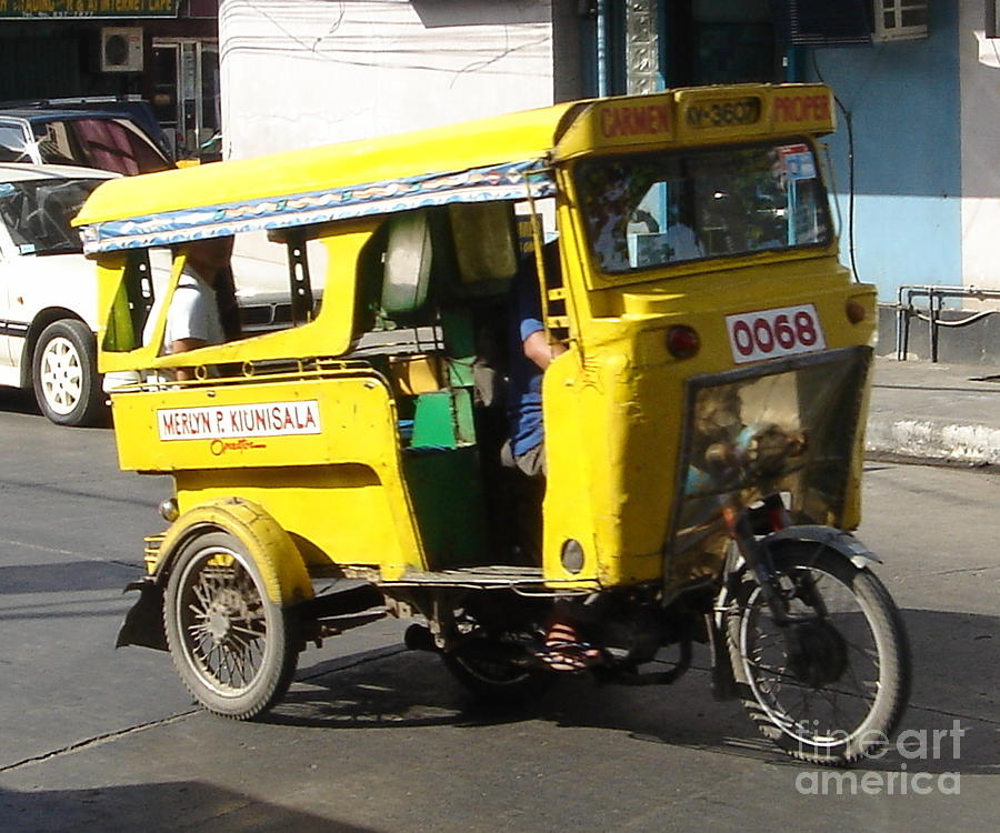 Jeepney Photograph - Jeepney 07 by Mike Holloway