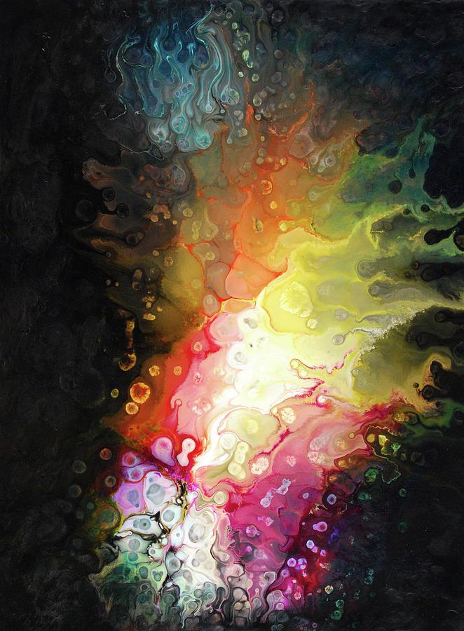 Abstract Painting - Jeewanu by Dion Kurczek