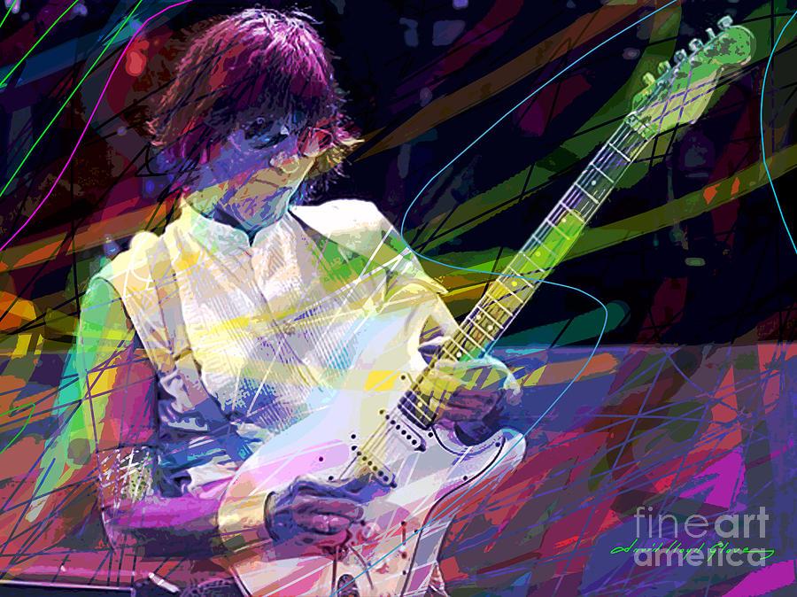 Jeff Beck Painting - Jeff Beck Bolero by David Lloyd Glover
