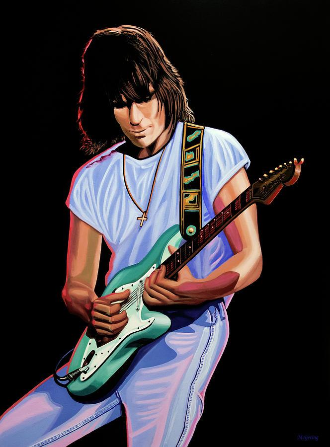 Jeff Beck Painting by Paul Meijering