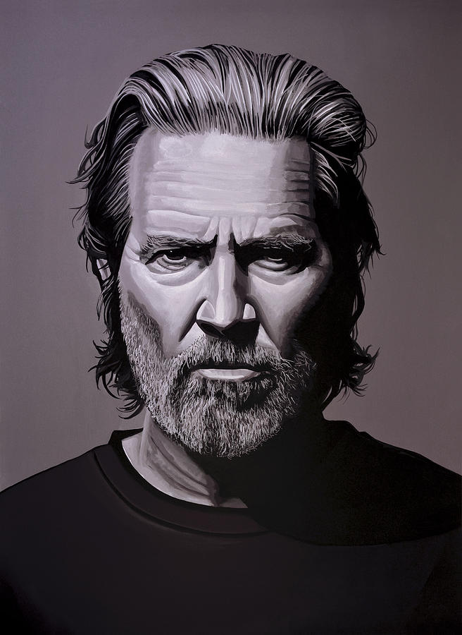 Jeff Bridges Painting - Jeff Bridges Painting by Paul Meijering