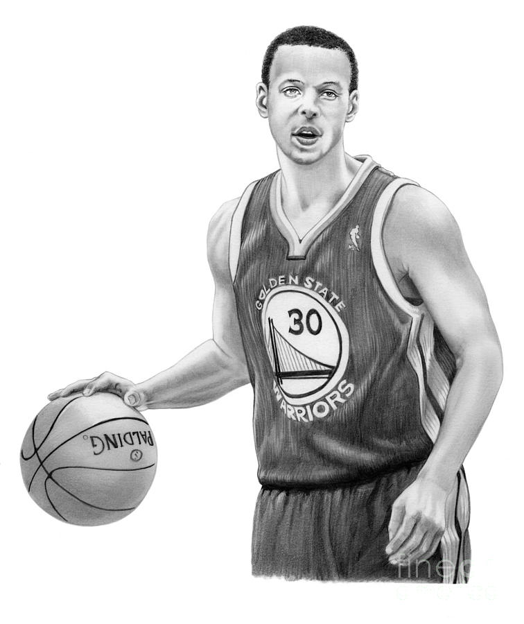 Stephen Curry Drawing by Murphy Elliott 3128e1dd1