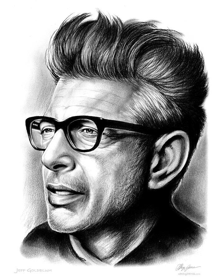 Jeff Goldblum Drawing - Jeff Goldblum by Greg Joens