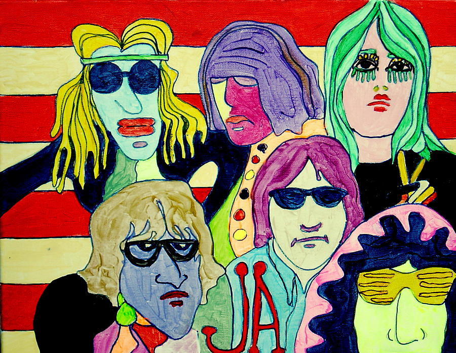 Scooby Doo Painting - Jefferson Airplane On Scooby Doo by Gayland Morris