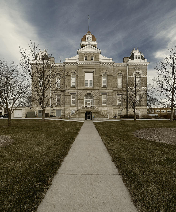 Jefferson County Courthouse in Fairbury Nebraska Rural by Art Whitton