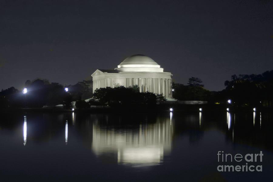 Jefferson Memorial At Night Washington Dc Photograph