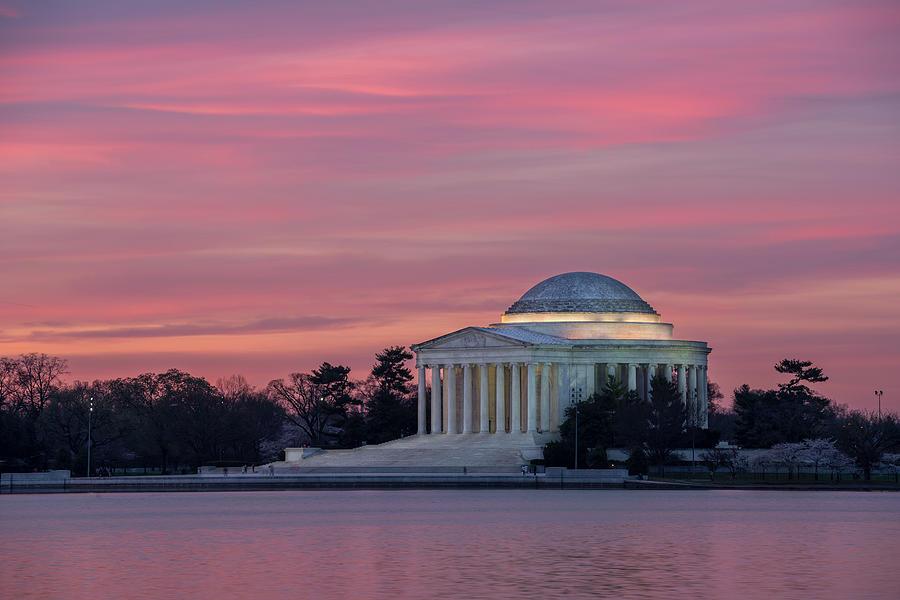 Jefferson Memorial Sunrise by Michael Donahue