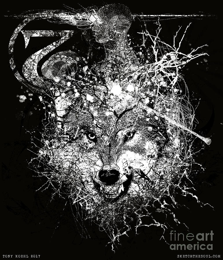 Mind Mixed Media - Jeffwolf by Tony Koehl