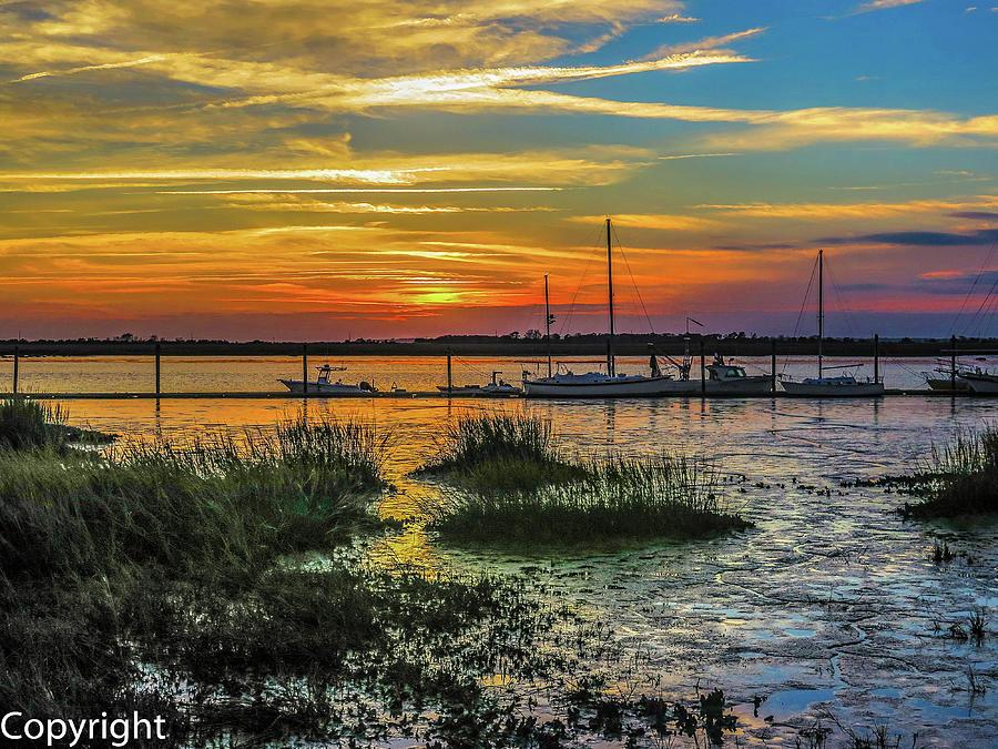 Sunset Photograph - Jekyl Island Sunset by William Randolph