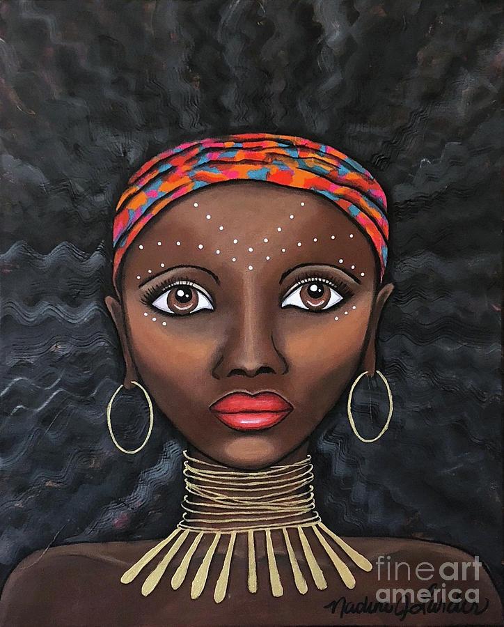 African Woman Painting - Jelani by Nadine Larder