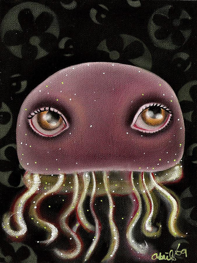 Jellyfish Painting - Jellyfish by  Abril Andrade Griffith