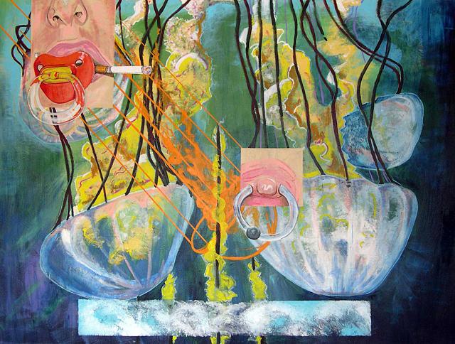 Painting - Jellyfish Bd by Gk Callahan