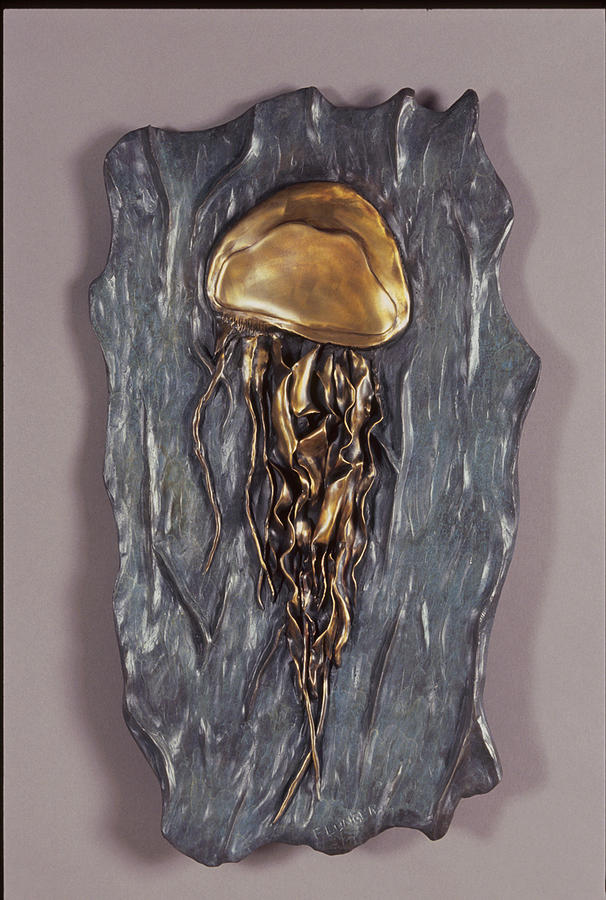 Wildlife Sculpture - Jellyfish by Fred Lunger