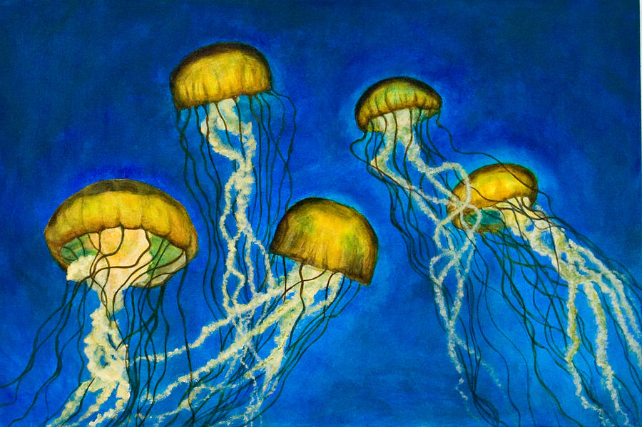 Jellyfish Painting Acrylic