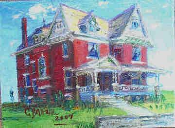 Jenkins Mansion Painting by Charles Brown