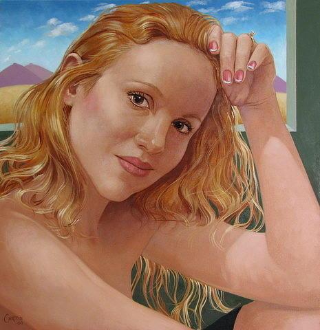 Portrait Painting - Jenn Cornelius by Jerrold Carton